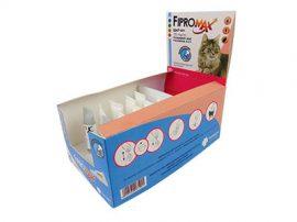 Ingyenes szállítással 10db-tól : Fipromax Spot-On rácsepegtető oldat macskáknak A.U.V. 1db ampulla