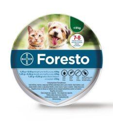 Foresto bolha és kullancs elleni nyakörv 8kg. alatt 38 cm  ( Kutya és cica részére )