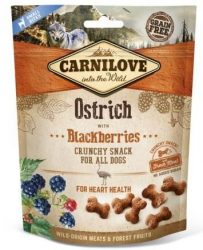 Carnilove Dog Crunchy Snack Ostrich & Mulberry- Strucc Hússal és Szederrel 200g