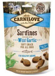 Carnilove Dog Semi Moist Snack Sardinia & Garlic- Szardínia Hússal és Fokhagymával 200g