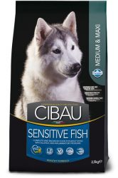 CIBAU  Sensitive Fish Medium & Maxi 12+2=14KG.