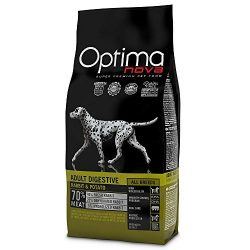 Visán Optimanova Dog - Adult Digestive Rabbit & Potato 12 kg